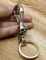Solid Brass Keychain Pants Clip Hook Bag Hook Tiger Pendant Car EDC Keychain