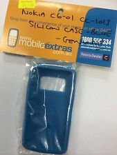 Nokia C6-01 Fitted Soft Silicon Cover Blue CC-1013 Brand New in Original Package