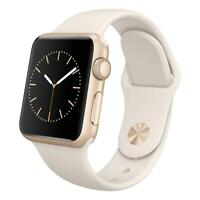 Apple Watch Series 2 - 38mm - Gold Aluminum Case - White Sport Band - Smartwatch