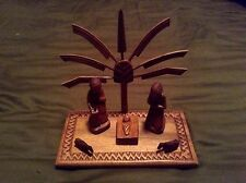 NATIVITY SET Hand-carved from Madagascar ROSEWOOD Creche 15 Detachable Pieces