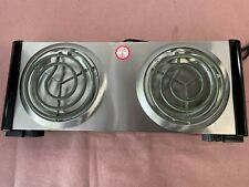 Elite Gourmet Countertop Electric Hot Burner Temperature Controls Power Indic.