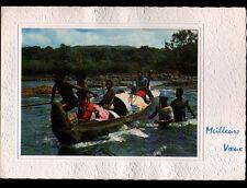 MARONI (GUYANE Française) CANOTIERS BOSCH en Pirogue sur FLEUVE ,MEILLEURS VOEUX