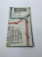 Vintage 1974 Manhattan Bus Guide Map by the New York City Transit Authority