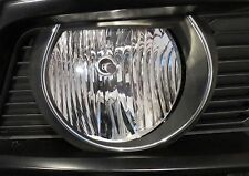 FRONT BUMPER FOG LIGHT SURROUND CHROME TRIM KIT FITS 2010 - 2012 FORD MUSTANG GT