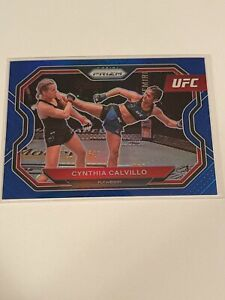 2021 Panini Prizm UFC Blue Prizm #146 Cynthia Calvillo #147/199 Flyweight