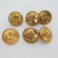 Shaw Savill Albion line Set of 6 gilt brass buttons 23mm Firmin & unbranded