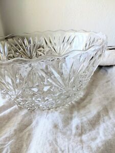 Cut Glass Fruit Bowl excellent used condition