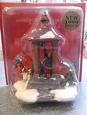 SANTA'S WORKBENCH VILLAGE HOUSE COLLECTION - GIRL & BOY RINGING THE BELL TOWER