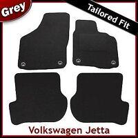Volkswagen VW Jetta Mk5 2006-2011 Oval Clips Tailored Carpet Mats GREY