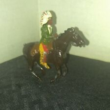"Vintage Made in England Britains 2.5"" Indian on Horse Lead Painted Toy GD+ 2.5"