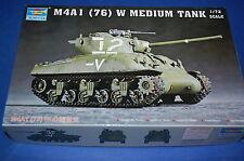 Trumpeter 07222 - M4A1 (76)  W Medium Tank scala 1/72