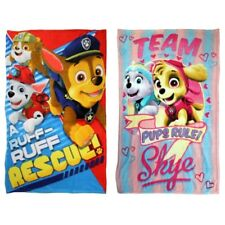 PAW PATROL SUPER SOFT FLEECE CUDDLE BLANKET CHILDRENS KIDS BED THROW SKYE CHASE