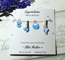 Gorgeous Personalised new born baby boy card