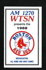 1988 Boston Red Sox Schedule--WTSN