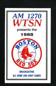 Boston Red Sox--1988 Pocket Schedule--WTSN