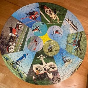 SPRINGBOK ROUND PUZZLE / HELICOPTERS / 1967  HOLY GRAIL RARE MISSING 1 250/GB-1