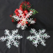 30pcs Christmas Party White Snowflake Decor For home Hanging Pendants New Year 2