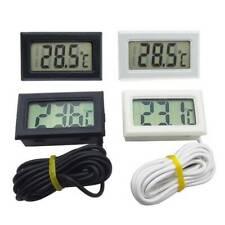 Digital LCD Thermometer Aquarium Fish Tank Vivarium Water Marine Stick On Probe~