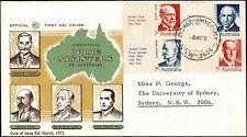 1972 AUSTRALIA Prime Ministers (4) FDC