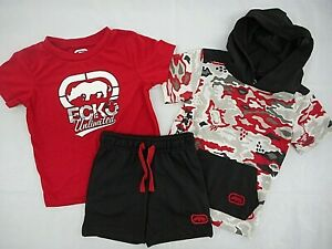 Toddler/Boys Ecko Unltd. $48-$52 Hooded S.S. Shirt, T-Shirt & Shorts Sz 2T - 7