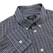APC S Small Men's Button Down Shirt Long Sleeves Check A.P.C