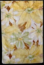 Vintage Cannon Royal Family Sheet & Pillowcase Floral Queen Fitted MOD Yellow