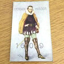 1909 HENRY HUDSON antique post card 1609-1909 FOUR HUNDRED YEARS New York Harbor