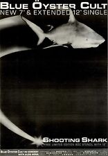 FRAMED 21/1/84pg9 Single Advert 15x10 Blue Oyster Cult, Shooting Shark