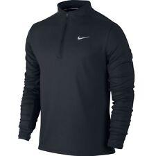 Nike Dri-FIT Thermal Half-Zip Men's Running Shirt S Black Gray Caual Gym New