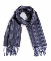 Thin stripe Unisex Premium 100% Wool Scarf (HWS5003A)