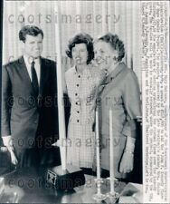 1966 Wire Photo President Kennedy's Sister Eunice Shriver Ted VRA Commissioner