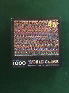 Springbok Jigsaw Puzzle WORLD CLASS 3D 1000 Piece Hallmark  COMPLETE Soccer 1994