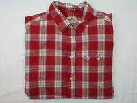 Wrangler Mens Vintage Shirt Size 2XL Long Sleeve Button Up Casual Fit Red Plaid