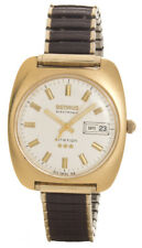 Benrus 3 Star Electronic Citation Two Tone Vintage Men's Watch