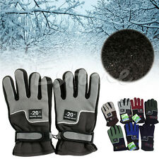 Windproof Men Winter Warm Fleece Thermal Motorcycle Ski Snow Snowboard Gloves