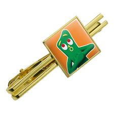 Gumby Singing Clay Art Square Tie Bar Clip Clasp Tack- Silver or Gold