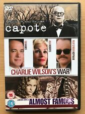 CAPOTE/Charlie wilson's WAR/ ALMOST FAMOUS ~ Drama Triple Bill 3 DISCOS GB DVD