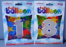 PALLONCINO COMPLEANNO 18 ANNI 2 PZ 46 cm diametro MYLAR FOIL FESTA PARTY