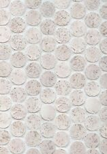 "1"" Cork Mosaic Tile Color Mix for Floors, Walls, Kitchens! Penny Round Tile!"