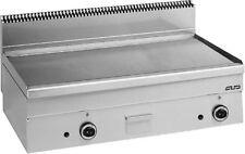 MBM Gas-Grillplatte, Bautiefe 600 mm, glatte Stahlfläche, 15,3 kW - 25% sparen