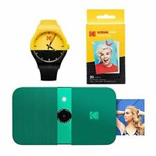 KODAK Smile Instant Print Digital Camera (Green) Watch Bundle