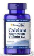 Puritan's Pride Calcium Magnesium with Vitamin D 120 Caplets