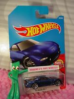 '95 MAZDA RX-7 #336✰dark blue; j5✰THEN & NOW✰2017 i Hot Wheels WW case P/Q