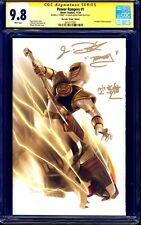 Power Rangers #1 VIRGIN VARIANT CGC SS 9.8 signed Jason David Frank JDF + KANJI