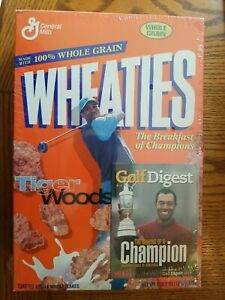 TIGER WOODS Wheaties Cereal Box w Golf Digest Insert 2001 SEALED