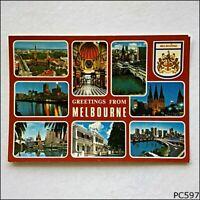 Melbourne Victoria Greetings 8 Views Postcard (P597)