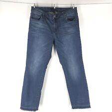 Women's Kut from the Kloth Denim Jeans Size 10 Dark Wash Undone Hem Raw Edge W10