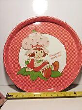 Strawberry Shortcake Serving Tray CHEINCO Tin Metal Polka Dot Tea Party