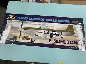 NIB Vintage EZ OK Model Company Chrome P-51D Mustang Warbird RC Airplane ARF Kit