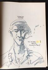1991 ANDRÉ JUILLARD : DESSIN ORIGINAL + DÉDICACE Faulkner : Tandis que j'agonise